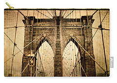 Brooklyn Bridge Nostalgia Carry-all Pouch by Jessica Jenney