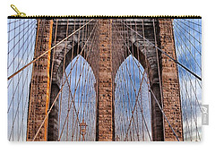 Carry-all Pouch featuring the photograph Brooklyn Bridge by Paul Fearn