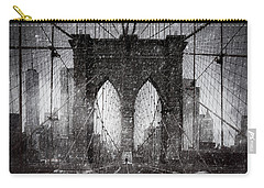 Brooklyn Bridge Snow Day Carry-all Pouch