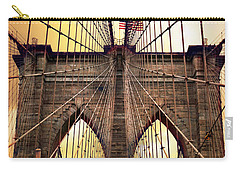Brooklyn Bridge Sunrise Carry-all Pouch by Jessica Jenney