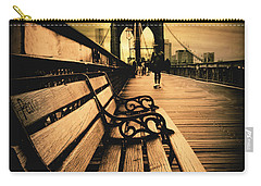 Brooklyn Bridge Sunset Carry-all Pouch by Jessica Jenney