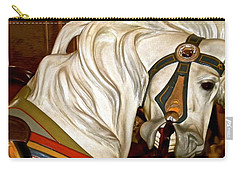 Carry-all Pouch featuring the photograph Brooklyn Hobby Horse by Joan Reese