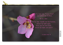 Carry-all Pouch featuring the photograph Brotherly Love by Larry Bishop