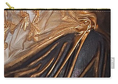 Brown And Gold Carry-all Pouch