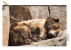 Brown Bear Asleep Again Carry-all Pouch by Chris Flees