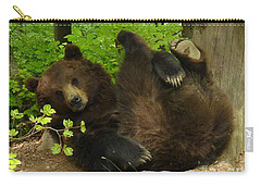 Carry-all Pouch featuring the photograph European Brown Bear by Phil Banks