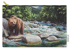 Brown Bear On The Little Susitna River Carry-all Pouch