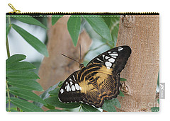 Carry-all Pouch featuring the photograph Brown Clipper Butterfly #5 by Judy Whitton