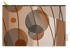 Carry-all Pouch featuring the digital art Brown Geometric by Mary Bedy