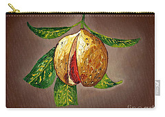 Carry-all Pouch featuring the painting Brown Glow Nutmeg by Laura Forde