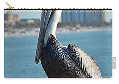 Carry-all Pouch featuring the photograph Brown Pelican by Robert Meanor