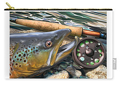 Brown Trout Sunset Carry-all Pouch