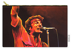 Bruce Springsteen Painting Carry-all Pouch by Paul Meijering