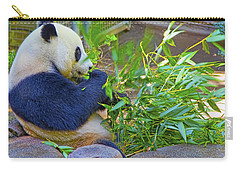 Carry-all Pouch featuring the photograph Brunch On The Patio by Gary Holmes