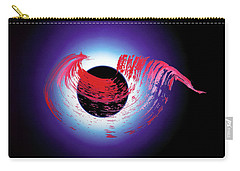 Carry-all Pouch featuring the photograph Brushstroke Over Eclipse -- Tribute To Pink Floyd Dark Side Of The Moon by Asha Carolyn Young and Daniel Furon