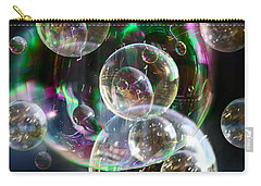 Carry-all Pouch featuring the photograph Bubbles And More Bubbles by Nareeta Martin
