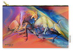Carry-all Pouch featuring the painting Buck Off by Rob Corsetti