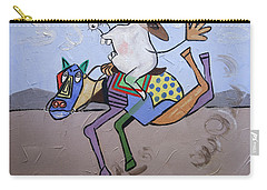 Carry-all Pouch featuring the painting Buck Tooth by Anthony Falbo