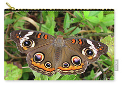 Carry-all Pouch featuring the photograph Buckeye Butterfly by Donna Brown