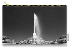 Buckingham Fountain Panorama Black And White Carry-all Pouch