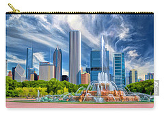 Buckingham Fountain Skyscrapers Carry-all Pouch