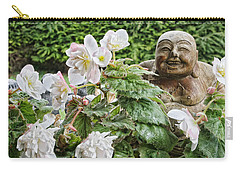 Budda And Begonias Carry-all Pouch by Denise Romano