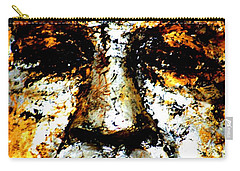 Carry-all Pouch featuring the photograph Buddha Face by Nola Lee Kelsey