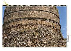 Carry-all Pouch featuring the photograph Buddhist Religious Stupa Horse And Mules Swat Valley Pakistan by Imran Ahmed