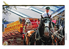 Carry-all Pouch featuring the photograph Budweiser Beer Wagon by Mike Martin