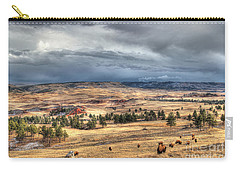 Buffalo Before The Storm Carry-all Pouch by Bill Gabbert