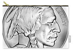 Buffalo Nickel Carry-all Pouch by Greg Joens