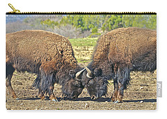 Buffaloes At Play Carry-all Pouch