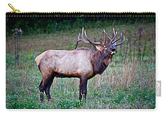 Carry-all Pouch featuring the photograph Bugle Solo From Bull Elk by John Haldane