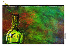 Carry-all Pouch featuring the mixed media Bugs by Ally  White