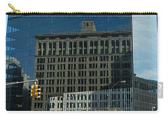 Carry-all Pouch featuring the photograph Building Reflections Nyc by Emmy Marie Vickers