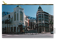 Buildings Along The Road, Rodeo Drive Carry-all Pouch by Panoramic Images