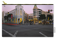 Buildings In A City, Rodeo Drive Carry-all Pouch by Panoramic Images