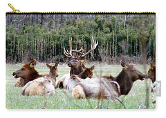 Bull Elk And His Girls Carry-all Pouch