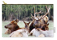 Bull Elk And His Girls 2 Carry-all Pouch