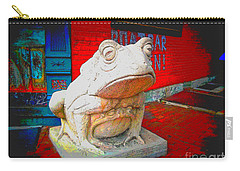 Carry-all Pouch featuring the photograph Bull Frog Painted by Kelly Awad