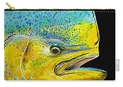 Bull Head Off0033 Carry-all Pouch by Carey Chen