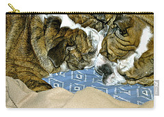 Carry-all Pouch featuring the photograph Bulldog Love Forever  by Lehua Pekelo-Stearns