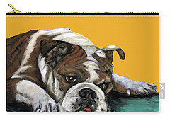 Bulldog On Yellow Carry-all Pouch