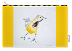 Carry-all Pouch featuring the painting Bullock's Oriole No 1 by Ben Gertsberg