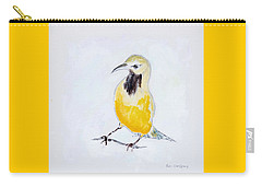 Carry-all Pouch featuring the painting Bullock's Oriole No 2 by Ben Gertsberg
