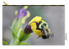 Carry-all Pouch featuring the photograph Bumble Bee Making A Wish by Penny Meyers