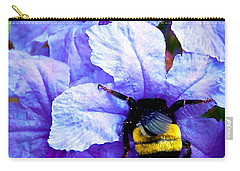Carry-all Pouch featuring the photograph Bumblebee Brunch by Dee Dee  Whittle