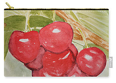 Bunch Of Red Cherries Carry-all Pouch