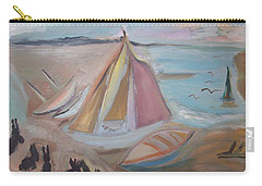 Carry-all Pouch featuring the painting Bunnies At Hoyle Lake by Judith Desrosiers
