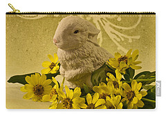 Carry-all Pouch featuring the photograph Bunny And Daisies  by Sandra Foster